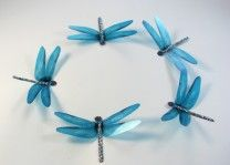 Dragonfly Decorations Aqua color - great for Wedding Cake Toppers - can custom make in any color
