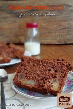 Cake de Chocolate y calabaza confitada. Blog: 5 Sentidos en la cocina