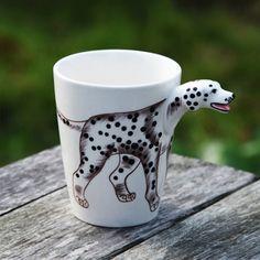 350ml 3D Dog Shaped Mugs Creative Design Hand Drawn Ceramic Mugs Milk Mugs, JSF-Mugs-010