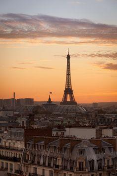 Sunset in Paris, France Tour Eiffel, Paris Torre Eiffel, Paris Eiffel Tower, Paris Travel, France Travel, Places To Travel, Places To See, Places Around The World, Around The Worlds