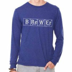 Periodic Brewer Long Sleeve T-Shirt by BrewerShirts