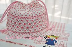 A Lunch Bag for school~Polka Dot Smocking(Dotted Smocking)