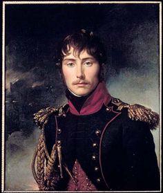 Eugène de Beauharnais est ici représenté dans le petit uniforme de colonel des chasseurs à cheval de la garde consulaire. Retrouvez cette oeuvre dans l'exposition Eugène de Beauharnais.