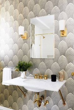 36 faucets that AREN'T chrome (and we love them) on domino.com Metal Birds, Metal Art, Metal Bird Wall Art, Backsplash, Small Bathroom Wallpaper, Shower Fixtures, Aberdeen, Designs, Agence Architecture