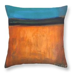 Rothko Throw Pillow featuring the painting Glow by Vesna Antic