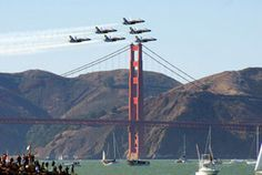 San Francisco Military Fleet Week, every October watch jet planes roar over the SF bay. Fleet Week, Go Blue, Navy Blue, F 16, Military Jets, Blue Angels, To Infinity And Beyond, Air Show, American Pride