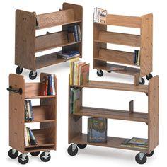 MAR-LINE® Oak Book Trucks- CLEARANCE