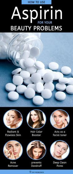How to use Aspirin for your Beauty Problems We generally know aspirin as a medicine, used to treat your headache, fever or body ache. But do you know that aspirin is also used as a good remedy for treating many skin problems? Surprising, isn't it? Yes, t