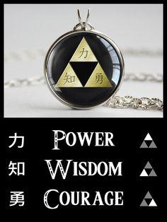 Zelda necklace Kanji Triforce #zeldajewelry #nintendo #treatsforgeeks
