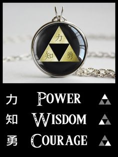Zelda necklace Kanji Triforce #zeldajewelry #nintendo #treatsforgeeks