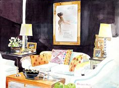 a lovely being - Mita Corsini Bland's interior watercolors
