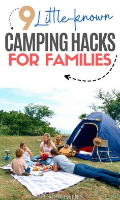 Try these 9 genius camping hacks for families! These are the best ideas for a fun and easy camping trip with kids. Use these ideas when camping in a tent to keep your clothes and shoes dry, to protect your stuff, to stay hydrated, make an easy fire, stay well lit and prepare and preserve your food! Travel With Kids, Family Travel, Flying With A Baby, Family Vacation Destinations, Friends Mom, Camping Hacks, Beach Mat, Tent, Outdoor Blanket