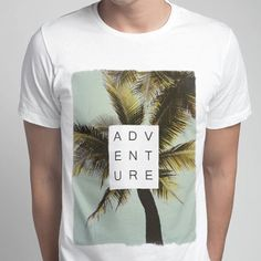 Men's Palm Trees Adventure Printed T-Shirt by ZELLE