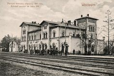 Old railway station. Demolished in XXth century. Train Station, Poland, History, Places, Painting, Historia, Painting Art, Paintings, Painted Canvas