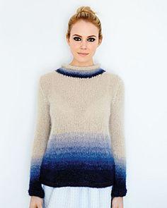 ombre sweater by debbie bliss