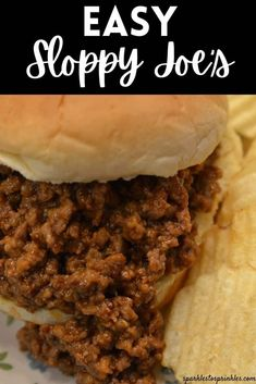 This easy sloppy joes recipe is a homemade sloppy joe recipe that is kid-friendly. Skip the canned sloppy joe mix and make this easy and satisfying recipe today. Pile on buns, serve with french fries or salty chips, and enjoy! Pin for Later! Homemade Sloppy Joe Recipe, Homemade Sloppy Joes, Sloppy Joes Recipe, Birthday Party Meals, Good Food, Yummy Food, Delicious Recipes, Sloppy Joe Mix, Tender Roast Beef