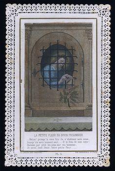 old holy card lace canivet santino merlettato THE LITTLE FLOWER OF JESUS Vintage Holy Cards, Pictures Of Jesus Christ, Christ The King, Heart Of Jesus, Catholic Art, Prayer Cards, Christian Art, Sacred Heart, Prison
