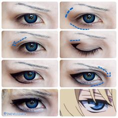 Mikaela Hyakuya Makeup Tutorial   Lenses from @uniqso  Good luck   #uniqso #owarinoseraph #owarinoseraphcosplay #mikaelacosplay ##mikaelahyakuya #makeuptutorial #cosplaymakeup #cosplaytutorial #dollyeyes