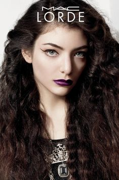 lorde mac cosmetics poster Lorde Broods in Her New MAC Cosmetics Campaign