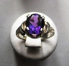 Purple Amethyst Ring Sterling Silver Large gemstone handmade fine jewelry Pale Green Prasiolite size 4 4.5 5 5.5 6 6.5 7 7.5 8 8.5 9 9.5 10 by GriffinsNestJewelry on Etsy https://www.etsy.com/listing/93152080/purple-amethyst-ring-sterling-silver