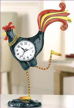 Allen Designs C120 Standing Tall Rooster Clock by Enesco, http://www.amazon.co.uk/dp/B002AQ1KJM/ref=cm_sw_r_pi_dp_HFLYqb0E41GC4