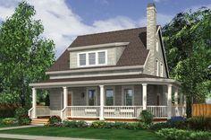 Cottage Style House Plan - 3 Beds 2.5 Baths 1915 Sq/Ft Plan #48-572 Exterior - Front Elevation - Houseplans.com