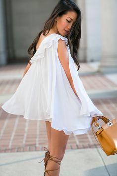Gladiator Continues :: One shoulder dress