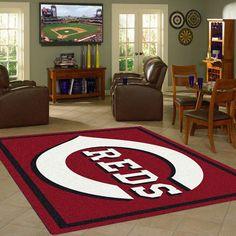 Cincinnati Reds MLB Team Logo Spirit Rug