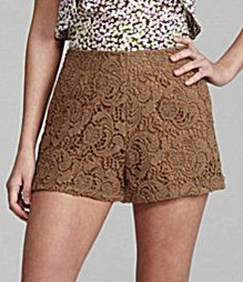The latest trend in lace is shorts and we are obsessed with these Gianni Bini ones.