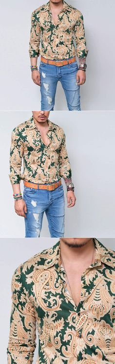 Mens Lux Edge Woolen Cotton Paisley Shirt By Guylook.com