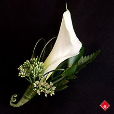 Mini Calla, bear grass, sedum  Orlandoweddingflowers/ www.weddingsbycarlyanes.com
