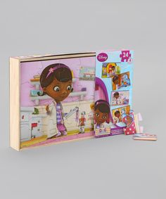 Take a look at this Doc McStuffins Wood Puzzle Set on zulily today!