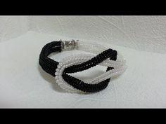 "Черно-белый браслет из бисера ""Инь Янь""/Black and white bead bracelet ""in Yan"" - YouTube"