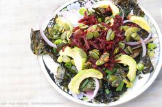 Roasted Silver Beet Chips With Beetroot and Avocado - Foreverfit.tv :: Fitness | Nutrition | Online Gym