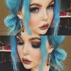@sugarpill Edward Scissorhands palette  @bobbibrown black gel liner  @esqido Voila lashes  @maccosmetics Stone lipstick