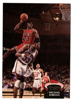 Michael Jordan Topps Stadium Club 1992-93 NBA Basketball Card #1 92