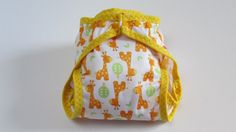 Little Giraffe Diaper Cover with Leg by FruitoftheWombDipes, $12.50