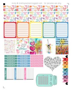 stick to your plan: Love a Rainbow - Free Printable {PDF and Silhouette files}