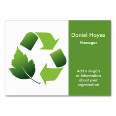 Recycle  Business Cards. I love this design! It is available for customization or ready to buy as is. All you need is to add your business info to this template then place the order. It will ship within 24 hours. Just click the image to make your own!