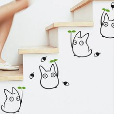 Totoro wall sticker enfants chambre décor Japonais de bande dessinée d'animation stickers muraux