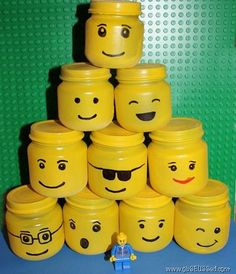 20 things to do with baby food glass jars: Lego storage jars - @lilsugar via @babycenter