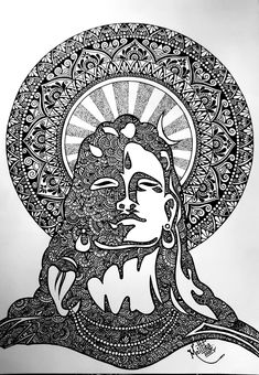 Doodle Art Drawing, Illustration Art Drawing, Mandala Drawing, Mandala Sketch, Mandala Art Lesson, Mandala Artwork, Zentangle, Tango, Indian Art Paintings