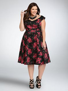 Floral Off the Shoulder Swing DressFloral Off the Shoulder Swing Dress,