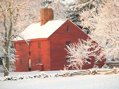 Rebecca Nurse House in snow, Danvers Ma