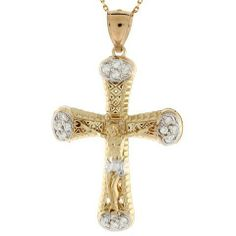10k Gold CZ Crucifix Jesus Religious Pendant Charm Jewelry Liquidation. $235.56. Made in USA!. Made with Real 10k Gold. Save 67%!