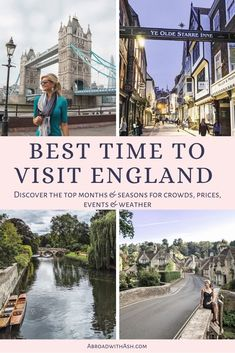 Discover the BEST time to visit England! Learn what to expect for crowds, weather, prices, and events for each month and season! #england #besttimetovisitengland #besttimetovisitlondon #london #englandinspring #englandinfall #englandinsummer #englandinwinter