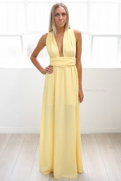 khaleesi maxi - yellow | Esther clothing Australia and America USA, boutique online ladies fashion store, shop global womens wear worldwide, designer womenswear, prom dresses, skirts, jackets, leggings, tights, leather shoes, accessories, free shipping world wide. – Esther Boutique