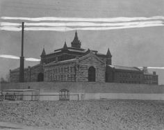 The old Work House circa 1882.  Used to be on the corner of Payne and Lexington Road.  You were sentenced here for crimes, and busted rocks drawn out of Cave Hill quarry.