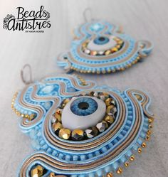 "Beads Antistres soutache earings "" I SEE YOU"" :)"