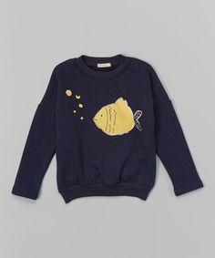 Love this Navy Fish Sweatshirt - Infant, Toddler & Kids by Leighton Alexander on #zulily! #zulilyfinds